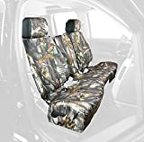 Saddleman Front Custom Fit Seat Cover for Select Toyota Yaris Models - Camo Fabric (Camouflage)