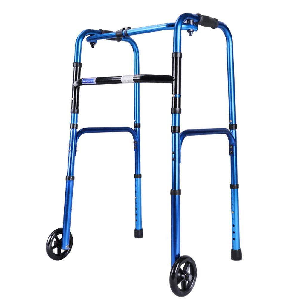 LHNLY-Andadores Andador Plegable con 2 Ruedas para Personas ...