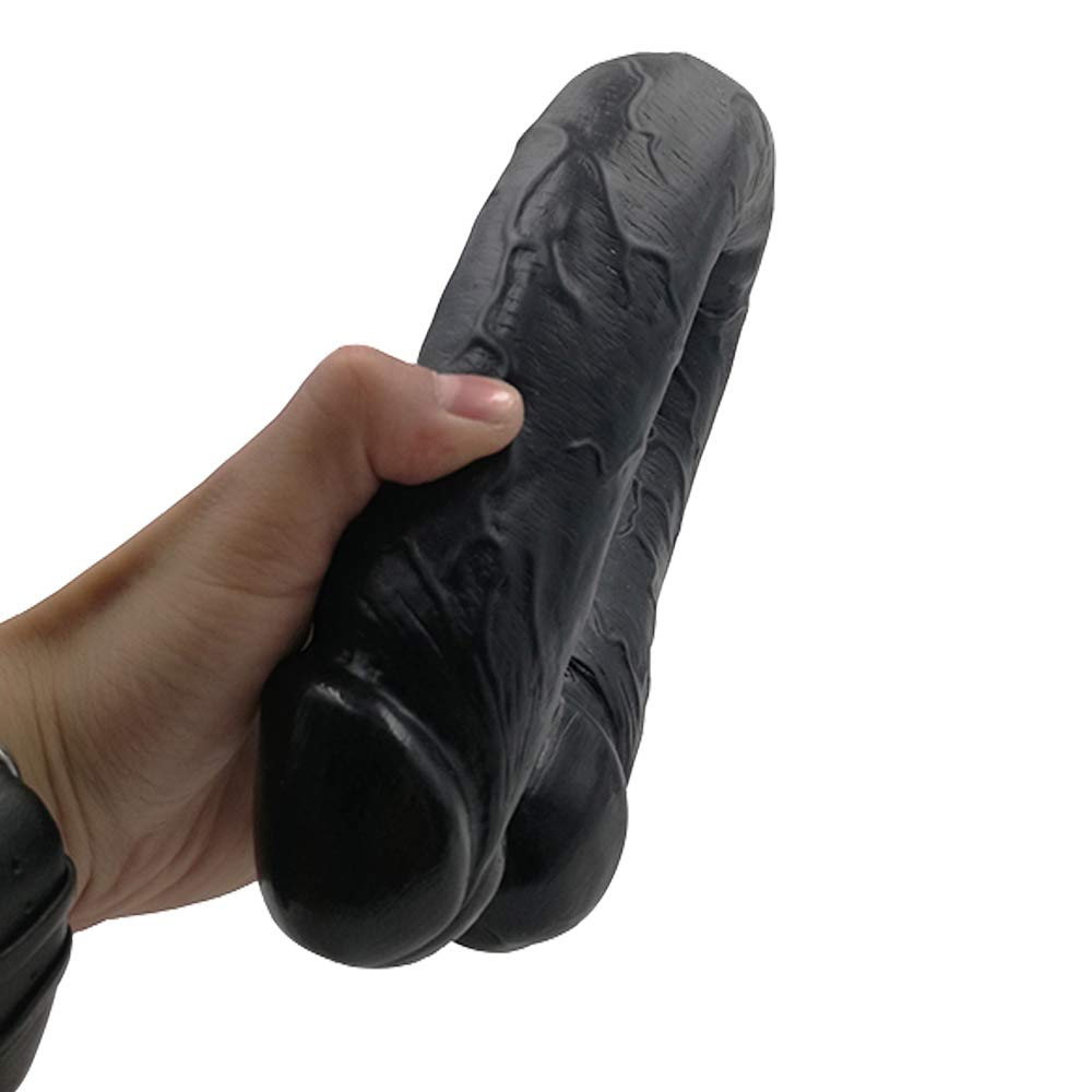 UitraLove 18 pulgadas Super Long & de Enorme de & doble cabeza Di-ld-ò Super masajeador suave para juguetes de varita de masaje de cuerpo completo femenino (Color : Beige) b24664