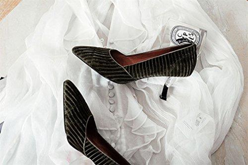 Bureau Talons green Armée eu38 Lucky Blink Chaussures Sandales Reine Mesdames Hauts Clover Princesse Chaussures Vert Pleuche Wedding a Party qFTnxFz4