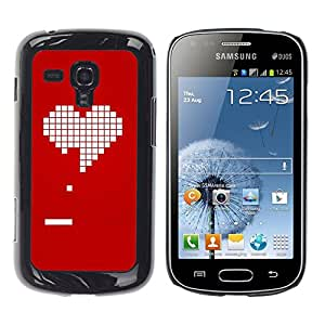 """Samsung Galaxy S Duos S7562 , JackGot - Impreso colorido protector duro espalda Funda piel de Shell (Pc juego de los videojuegos de la novia del amor de San Valentín"""")"""
