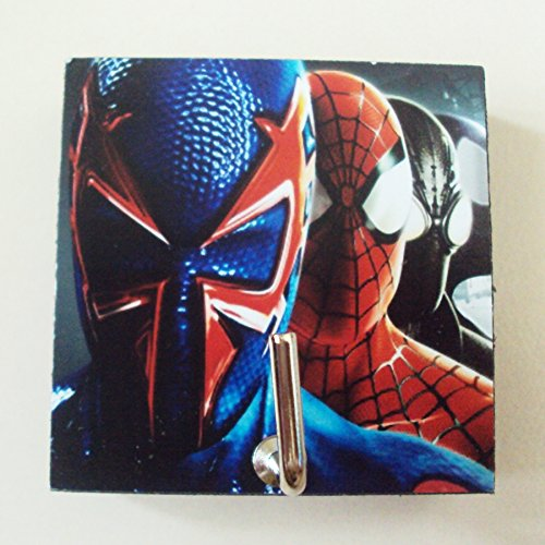 Noir Spiderman Costumes (Agility Bathroom Wall Hanger Hat Bag Key Adhesive Wood Hook Vintage Spider Man Shattered Dimensions's Photo)