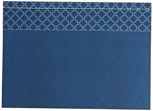 George Stanley Blue Octagon Sewn Imprintable Invitation, 10-Count
