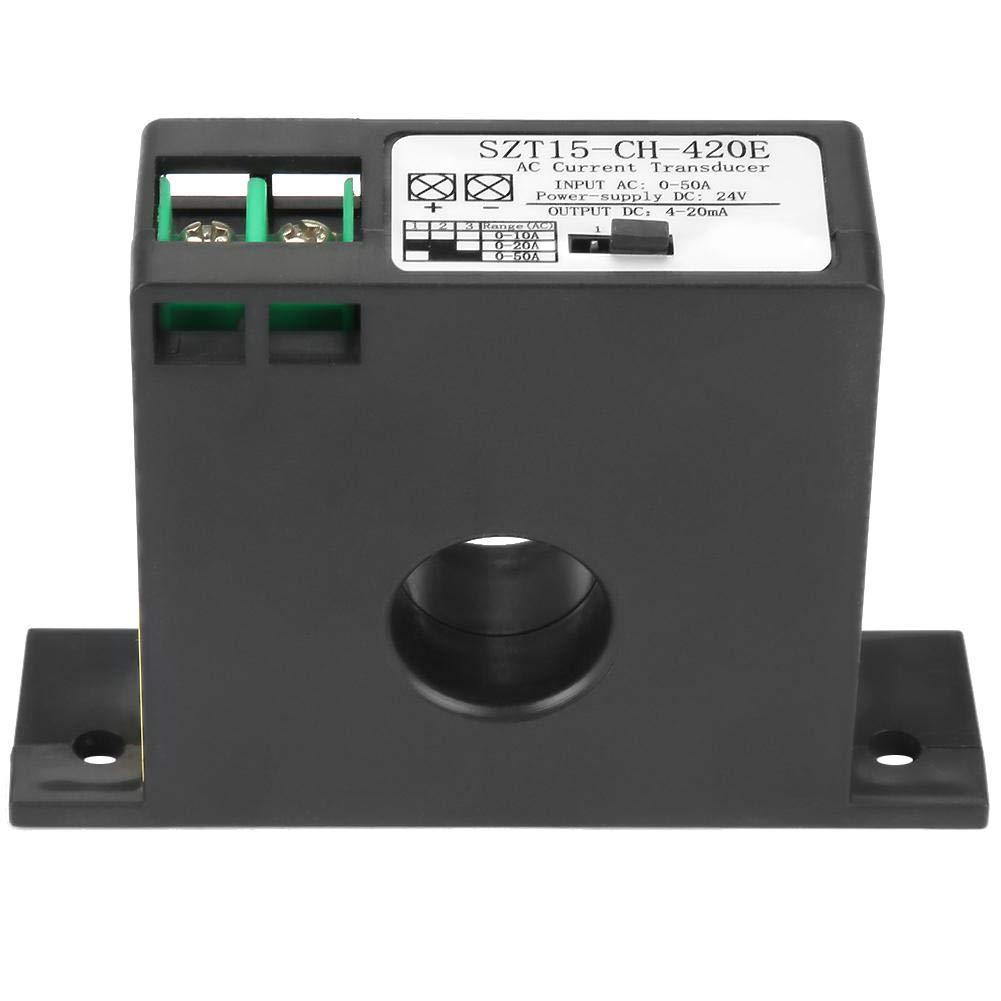 Current Transducer, SZT15-CH-420E Current Transducer Transmitter Transformer Sensor AC Current Converter 0-50A