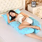 LUOTIANLANG cotton type U ergonomically designed pillow for pregnant women in pregnancy and lactation pillow adjusting detachable multifunctional pillow height,H,Free size