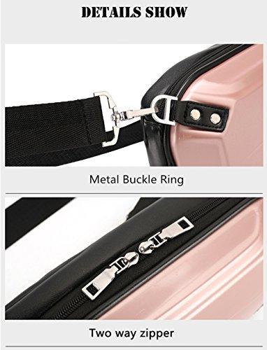 Solo bolso del hombro Cáscara dura del PVC Anti extrusion Bolso del pecho montar a caballo A