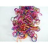 TIE DYE Rainbow Rubber Loom Bands 600 Pcs Bracelet Loom Rainbow Bands