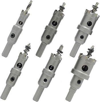 Juego de 6 brocas para sierra de perforaci/ón Bardland JSZ-6S 14 a 30 mm, aleaci/ón de metal