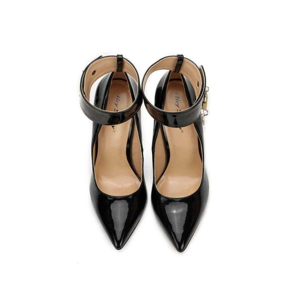 ¥schuhe Damen Damen Damen Knöchelriemchen Pumps Spitze Zehen Stiletto Schuhe mit Schnalle Arbeit Büro Schuhe ebeef8