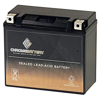Chrome Battery YTX20HL-BS High Performance Power Sports Battery