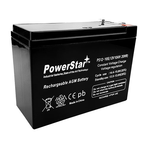 12v 10Ah SLA Rechargeable Battery - F2 Terminals (12v 10ah Sla Rechargeable Battery F2 Terminals)