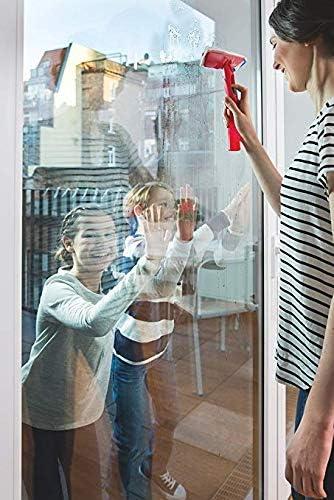 Vileda Windomatic - Aspirador de ventanas con labio de goma, limpiacristales con cabezal flexible y depósito de agua, aspiración vertical y horizontal, medidas 17,5x12x32 cm, color rojo: Amazon.es: Bricolaje y herramientas