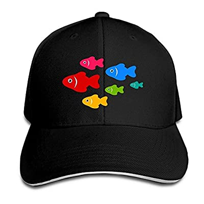 Flight of Fishes Custom Sandwich Peaked Cap Unisex Baseball Hat