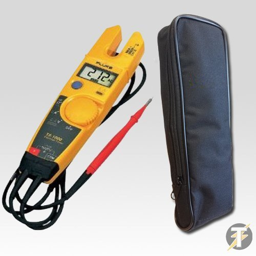 Fluke T5-1000 - Tough, LCD, OpenJaw, 100 Amp, 1000 Volt AC/DC Voltage, Continuity & Current Tester, Displays Resistance To 1000 Ohms PLUS Padded Carry Case FLUKE NETWORKS