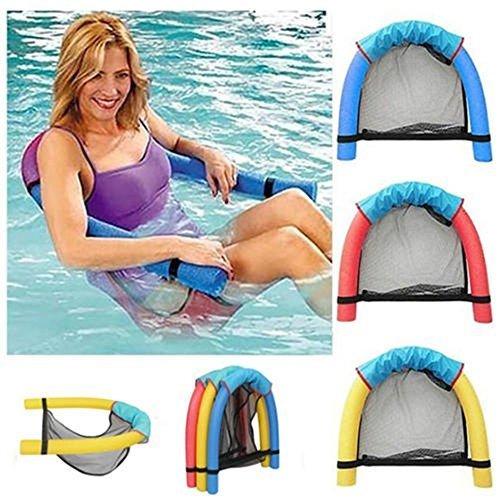 RUNTAR Float Chair Big Buoyancy Foam Stick Swimming Pool Sling Mesh Beach Sling Chair Swimming Pool Float Color random