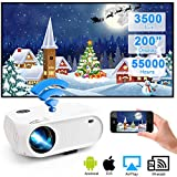 WiFi Projector 3500Lux Weton Wireless Portable Mini Projector LED Video Projector 200