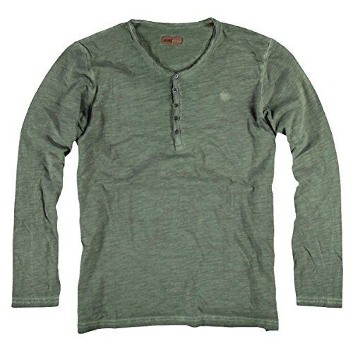 emilio adani Herren Henley Shirt, 22401, Grün