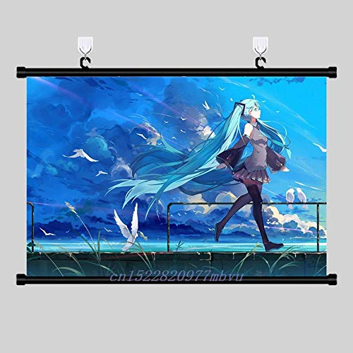 April77 Anime Poster Hatsune Miku Print Wall Scroll Painting Home Decor Japanese Cartoon Decoration Art Poster