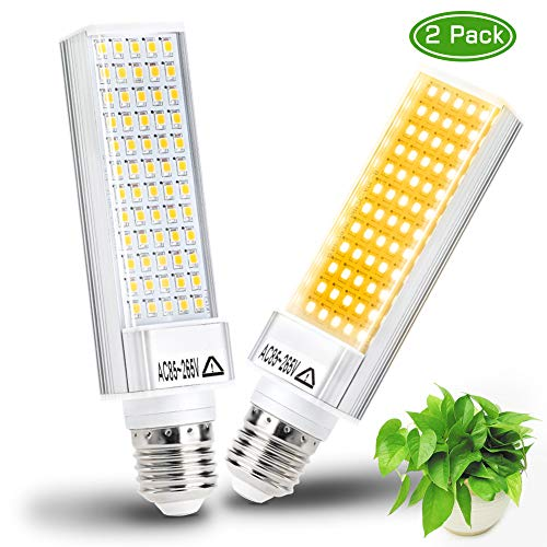 LED Grow Light Bulb for Indoor Plant, Haofy 60W E26 Base Led Plant Bulb, Full Spectrum Sunlike Grow Lamp Bulb for Indoor Plant Seedling Growing Blooming Fruiting 2PCS Replacement Growing Bulb