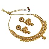 Indian Ethnic Fashion Crystal Stone Gold Tone Polki Necklace Set Indian Jewelry for Women