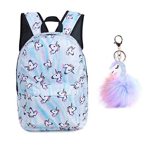 Unicorn Backpack Lightweight Kids School Preschool Travel Backpack for Girls with Free Unicorn Headbands or Unicorn Keychain