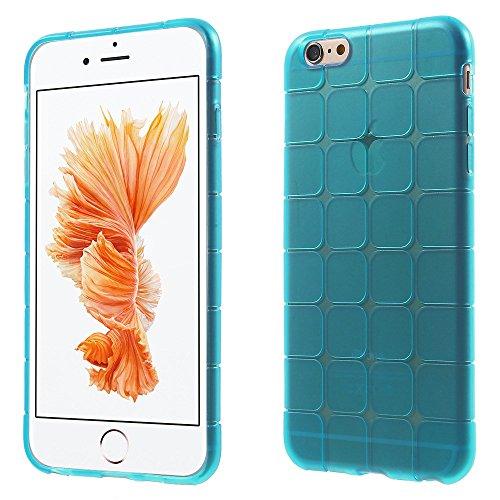 Apple iPhone 6Plus/6S Plus Étui Housse Case carré Motif Bleu decui Bleu/TPU Coque en gel