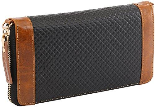Borsa Blu Smart Nero Tracolla Wallet Clutch Stilgut Per Custodia A Elegante Croc Pelle Portafoglio cognac Chester In Smartphone E Style PCwwTxq6d