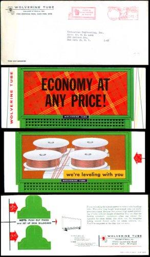 Wolverine Tube desktop billboard 1950s Economy at any