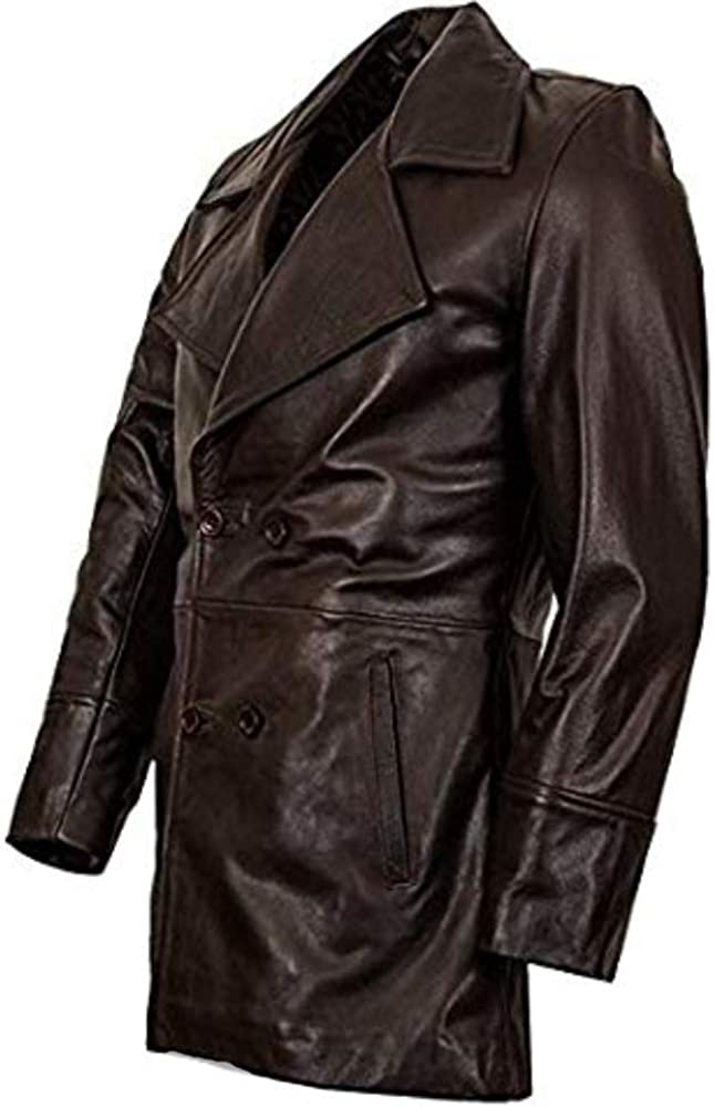 Winchester Brown Mens Double Buttoned Designer Unisex Leather Jacket