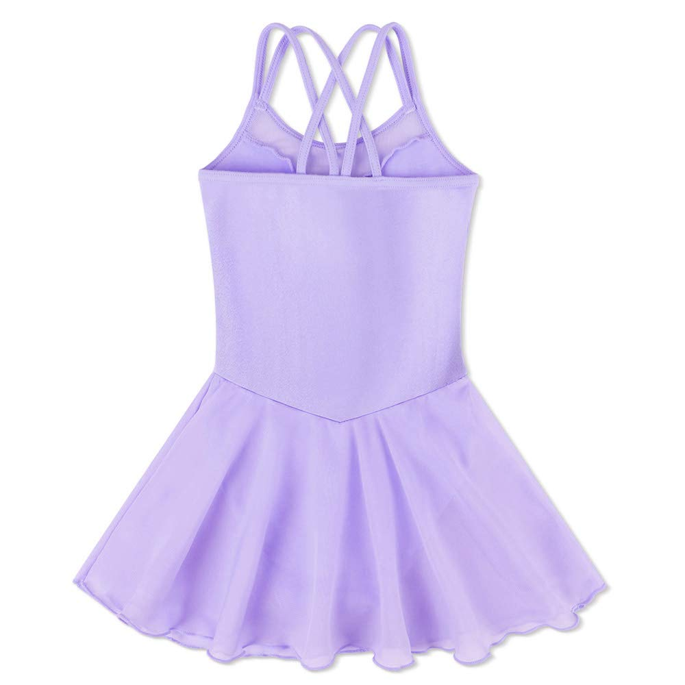 BAOHULU Girls Ballet Dance Camisole Tutu Skirted Leotards Dancewear