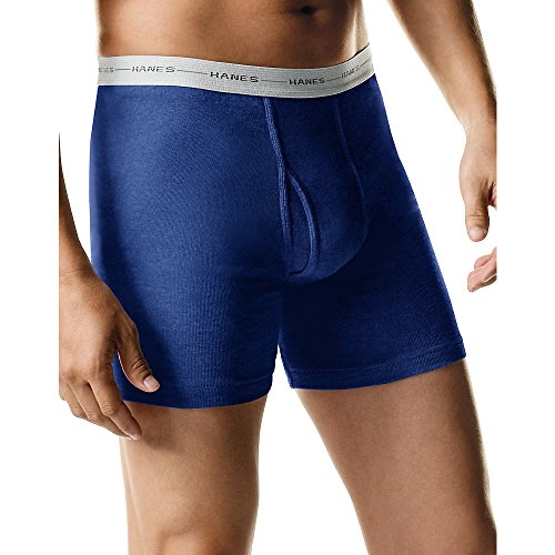 : Hanes Men's 5-Pack Ultimate FreshIQ Boxer with ComfortFlex Waistband Brief - Assorted Colors (XX-Large, Assorted Color)