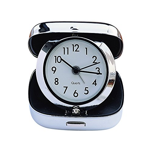 - Creative Gifts Folded Travel Alarm Clock in Chrome Plated