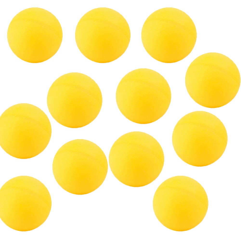 youchuan Lot DE 12 Ping Pong Balls-Competition d'entraînement, DE Lecture High-Elastic de Tennis de Table Blanc