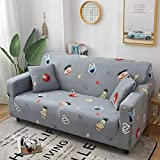 softSF Sofa Covers Sofa Slipcover Couch Cover Stretch Elastic Protector Full Cover Printing Non-Slip Pet Dog Furniture Protective Cover Living Room Home Sofa Towel, Sesame Street