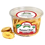 Aurora Natural Products Organic Banana Chips, 5.5 Ounce (Pack of 12)