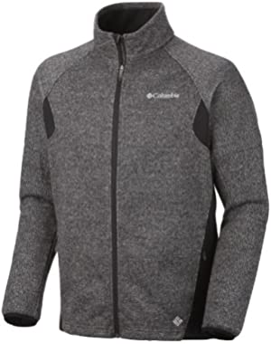 Men's Wind D-Ny Fleece Jacket, Black Heather, XXL