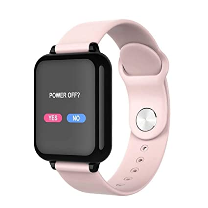Yowert Smart Watch Waterproof Sports for iPhone Mobile Smart Watch Heart Rate Monitor Blood Pressure Function for Children (Color : B)