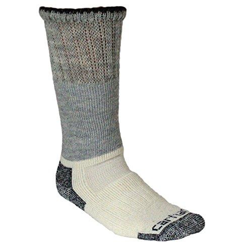 Carhartt Men's Big and Tall Arctic Wool Boot Crew Socks, Heather Black, Shoe Size: 11-15 from Carhartt