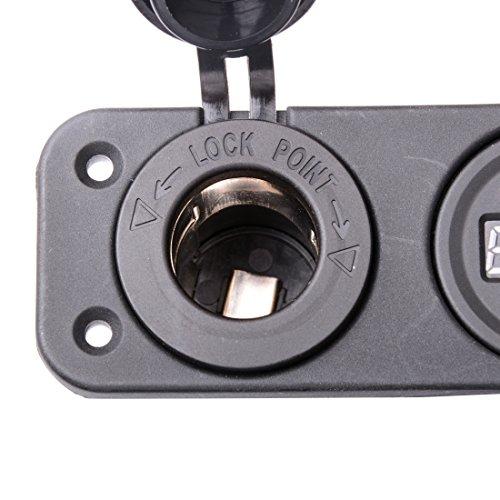 R REIFENG Car DC Digital Voltmeter/Dual USB 2 Port/DC12V Power Socket Three Hole Panel by R REIFENG (Image #5)