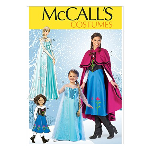 McCall's Costumes Ice Queen and Ice Princess Costume Sewing Pattern, Adult and child Sizes S-M-L-XL -
