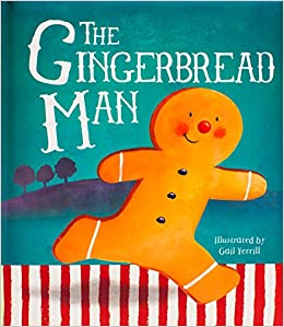 This is an image of Old Fashioned Gingerbread Man Printable Book