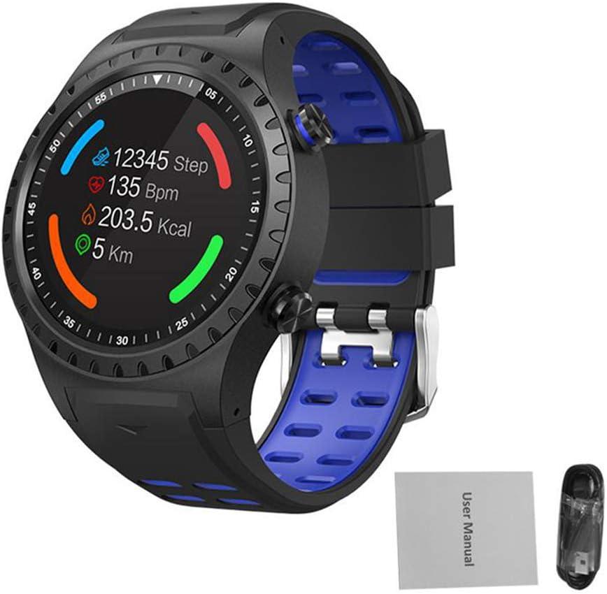 WWVAVA Reloj Deportivo GPS Llamada Bluetooth Modo Multideporte Brújula Altitud Deportes al Aire Libre Reloj Inteligente Llamada y recordatorio de Mensaje Pulsera, Azul