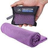 Cooling Towel - Cool Neck Wrap for Instant Relief - Cold Chilly Cloth for Summer Heat - Ideal for All Sports, Running, Hiking, Camping, Travels, Gym Workout, Fitness, Yoga & Golf - UPF 50 (Purple)