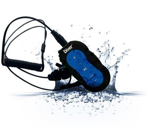 Diver DB-10 4GB Waterproof MP3 Player with Waterproof Earphones (Blue)