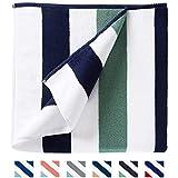 Oversize Plush Cabana Towel by Laguna Beach Textile Co   Navy and Seafoam Green  1 Classic, Beach and Pool House Towel