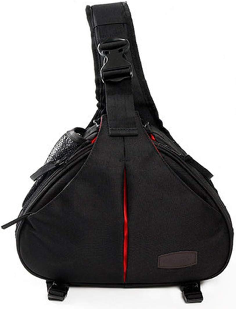 Color : Lite Black Hexiaoyi New Digital Camera Bag Diagonal Cross-Shoulder Cover One Shoulder Camera Bag SLR Camera Bag