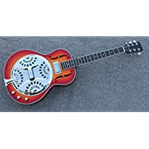 Hollow body Electric Resonator Guitar in Sunrise color