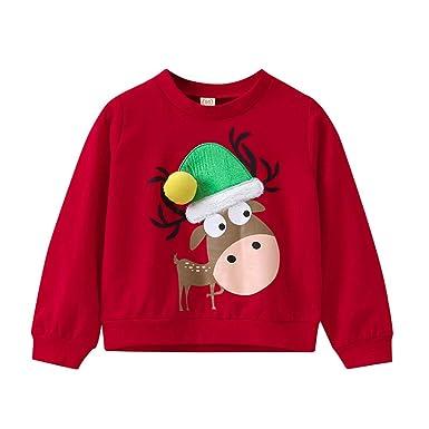 015e379f32 Riou Weihnachten Baby Kleidung Set Kinder Pullover Pyjama Outfits Set  Familie Kleinkind Kinder Baby Mädchen Jungen