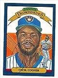Autograph Warehouse 34824 Cecil Cooper Autographed Diamond King Donruss Baseball Card 1986 Milwaukee Brewers Ball Point Pen