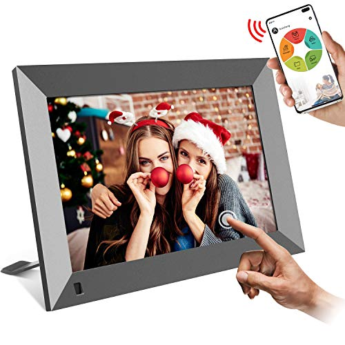 WiFi Digital Picture Frame 10 inch, Easy Setup to Share Photos or Videos Instantly via App/Facebook/Twitter/Email…